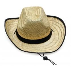 Καπέλο ψάθα  με μαύρες...