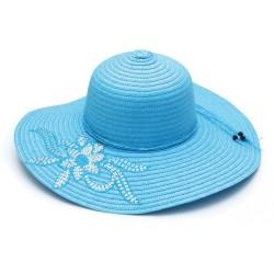 Καπέλο ψάθα γαλάζιο με...