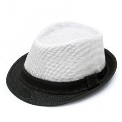Καπέλο ψάθα λευκό μαύρο 717 OEM
