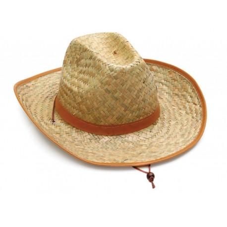 Καπέλο ψάθα με καφέ ανοιχτές λεπτομέρειες 501 OEM
