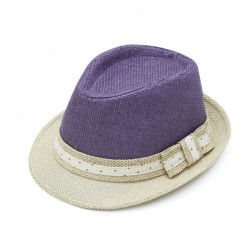 Καπέλο ψάθα μπέζ μώβ 714 OEM