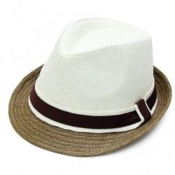 Καπέλο ψάθα μπέζ λευκό 729 OEM