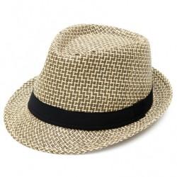 Καπέλο ψάθα μπέζ μαύρο 722 OEM