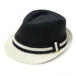 Καπέλο ψάθα μπέζ μαύρο 730 OEM