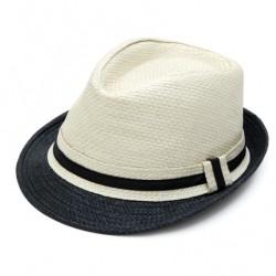 Καπέλο ψάθα μπέζ μαύρο 731 OEM