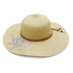 Καπέλο ψάθα μπέζ με σχέδιο...