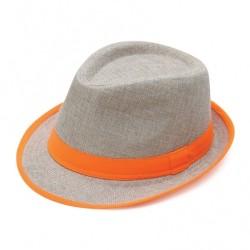 Καπέλο ψάθα μπέζ πορτοκαλί...