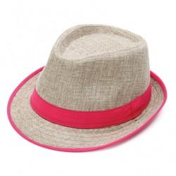 Καπέλο ψάθα μπέζ φούξια 720 OEM