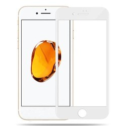 Tempered Glass 9H 0.3mm for Iphone 7 Plus 4D Full Cover White GL209