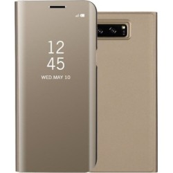 Mirror Clear View Θήκη για Samsung G.Note 8 Gold