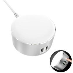 LDNIO A2208 Λάμπα αφής ισχύος LED με 2 θύρες USB