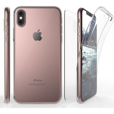 OEM Back and Front Case Σιλικόνης Διάφανο (iPhone X)