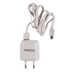 Remax Proda RP-U21 Φορτιστής Micro USB δύο θυρών