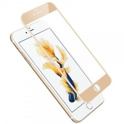 Tempered Glass  for Iphone 7 3D Full Cover Gold GL222