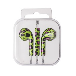 EARPODS ANIMAL PRINT GREEN  UNIVERSAL