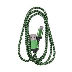 OEM  ΚΑΛΩΔΙΟ REGULAR USB TO MICRO USB  1m GREEN 3860