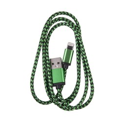 OEM  ΚΑΛΩΔΙΟ REGULAR USB TO LIGHTNING 1m GREEN 3865