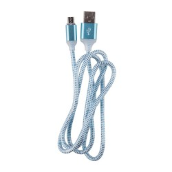 OEM  ΚΑΛΩΔΙΟ LED REGULAR USB TO MICRO USB 1m BLUE 3887